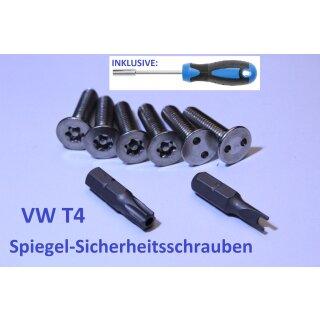 VW T4 Spiegel-Sicherheitsschrauben Set mit Bit-Handhalter