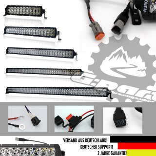 Set: 2x AURORA LED Lightbar 20, 200W inkl. Y-Kabel