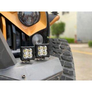 AURORA LED D3-2 Kompaktscheinwerfer, 2er Set