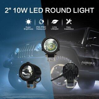 """AURORA round light 2"""" 10W"""