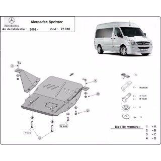 MB Sprinter  Bj. bis 06 Motor-Unterfahrschutz