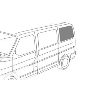 VW T4 Seitenscheibe hinten Fahrerseite KR, getönt