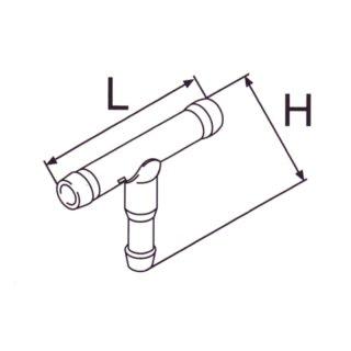 T-Stück für Kraftstoff, 6x5x6mm